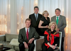 Brookwood Team -(top) Mike Bugg, Sr VP SkyRise Group; Judie Mattie and Mike Riley, Sales Associates; (lower) David Boehmig, President/Founder; Jenny Pruitt, CEO/Founder.  Atlanta Fine Homes Sotheby's International Realty
