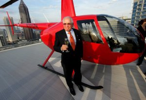 The helipad atop the W Hotel and Residences in downtown Atlanta was officially opened Tuesday, and W developer Hal Barry was on the inaugural flight.