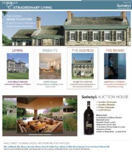 Wall Street Journal/Sotheby's International Realty Microsite