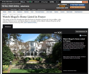 Wall Street Journal Features Blank's Home on Tuxedo Road in Atlanta