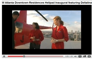 Deltalina featured in inaugural helipad landing