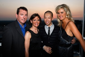 left, Barron Segar, event chair Lila Hertz, guest designer Jason Wu and event chair Sacha Taylor celebrate the 17th year of Fashion Cares