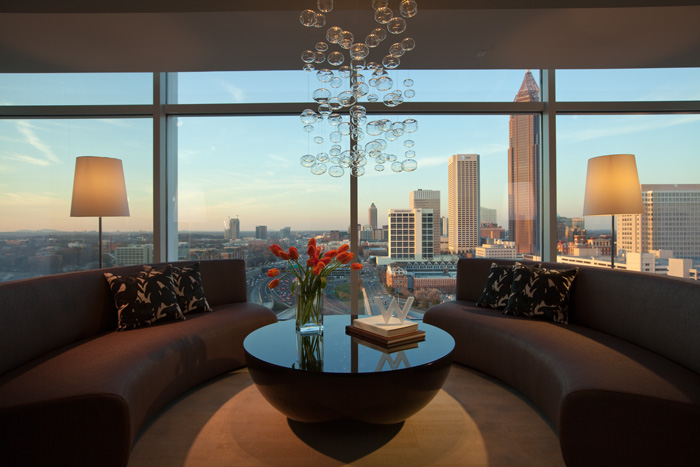 W atlanta downtown named development of excellence for Living room atlanta