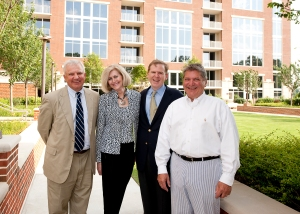 From left, co-host Raymond Kearns of Campbell and Brannon with Atlanta Fine Homes Sotheby's International Realty agents Jackie Sanford and George Heery and host Mike Riley of The Brookwood.