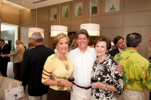 From left, Burma Weller with SkyRise Group, Senior Vice President Mike Bugg and Joy Bowen.