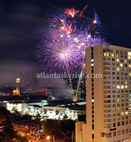 Fireworks from The Mansion on Peachtree (photo by Kevin Grieco)
