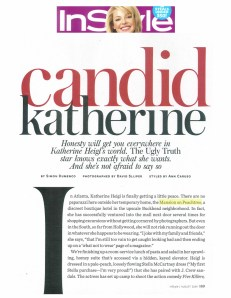 InStyle - August 2009 ~ Featuring Katherine Heigl's temporary home, The Mansion on Peachtree