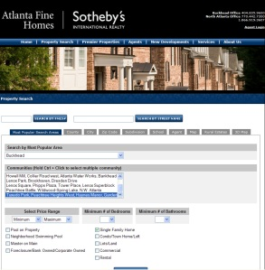 New Search Feature on AtlantaFineHomes.com
