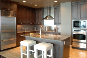 Kitchen in the PIECES model at Sovereign