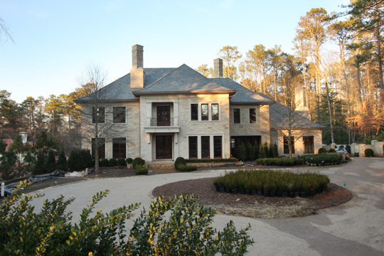 New buckhead estate slated for completion february 2010 for Atlanta house plans