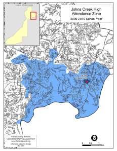 Johns Creek High School (Fulton County, Georgia) Zone Map