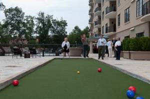 The Bocce Ball Court at The Aberdeen in Vinings