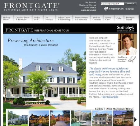 Frontgate magazine