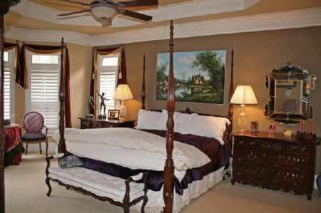 7735 Marsh Court ~ Master bedroom before staging