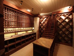 Wine Cellar with stone finishes