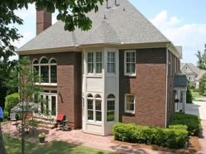 Oversized brick patio