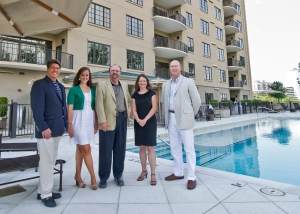 From Left, Mike Bugg and Ansley Fetz of Atlanta Fine Homes Sotheby's International Realty Skyrise Group, and Shephard Center's Gary Ulicny, President and CEO;Bonnie Hardage, director of major gifts, and Dean Melcher, director of annual gifts